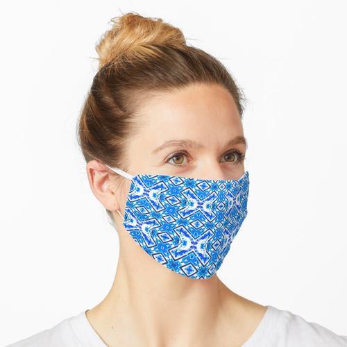 Blauer Stoff Textildruck Maske