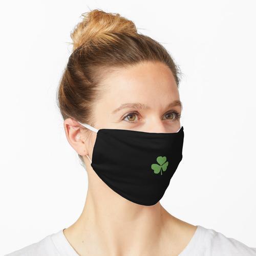 Kleines grünes Glitzer-Kleeblatt Maske