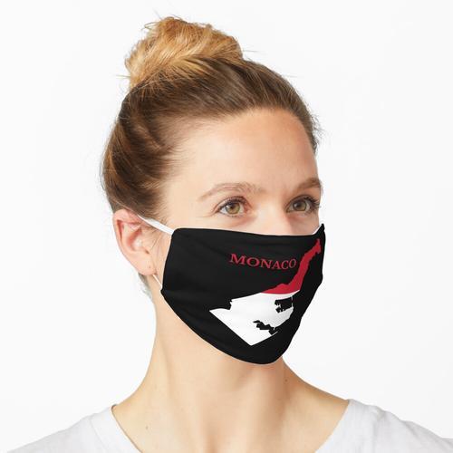 Monacoian Design Flag Karte. Maske