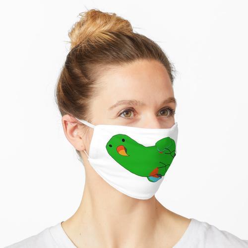 Lazy Green Eclectus Boi Maske