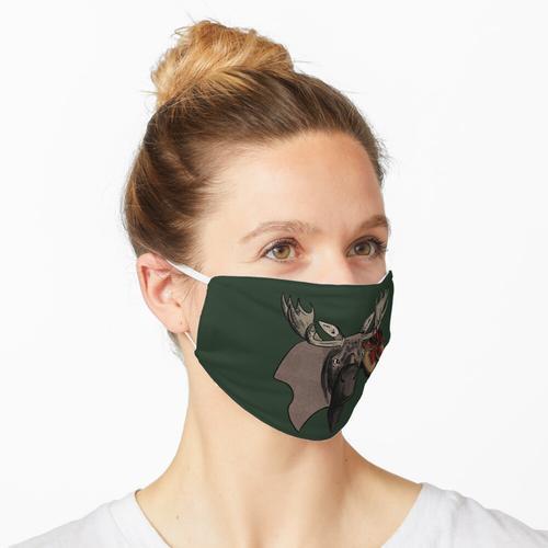 Elch mit Wanderschuhen Maske