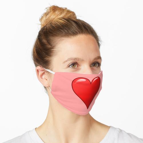 Herzform Maske