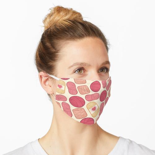 Erdbeer Limonade Garn Muster Maske
