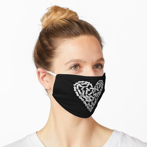 Fahrradkette Herz Maske