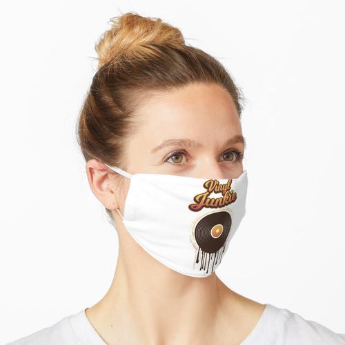 Vinyl Junkie - ich liebe das Vinyl - DJ's Vinyl Maske