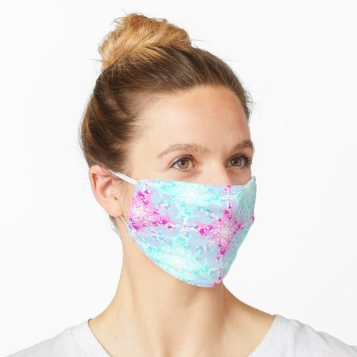In Kreisen rosa und blau herumfliegen Maske