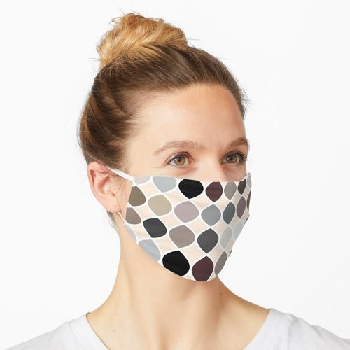 Neutrales ovales Muster Maske