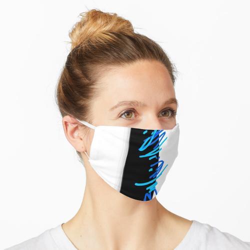 Freihand - Türkis Maske