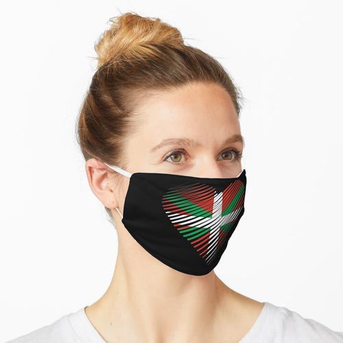 Stolz darauf, baskisch, herzbaskisch, Euskadi, Euskal Herria, baskische Flagge, Stolz zu sein Maske