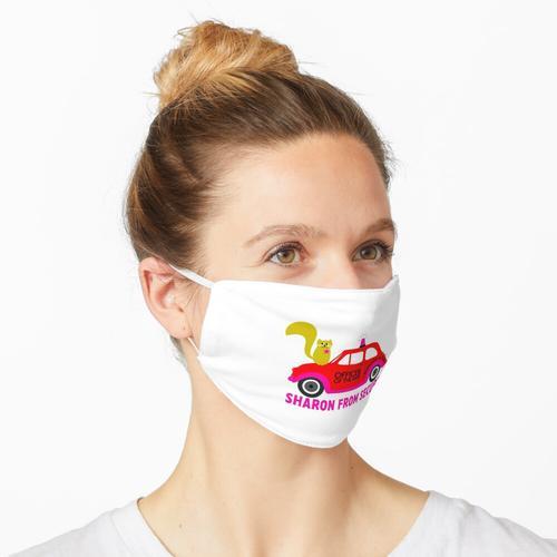 Sharon From Security und ihr Streifenwagen Maske