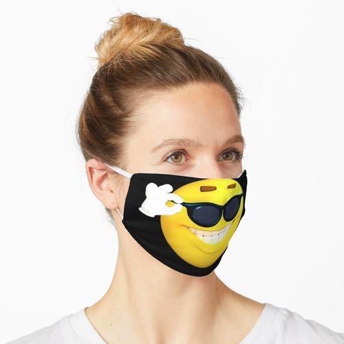 Emoji Emoticon Smile Smiley-Sonnenbrille Happy Maske