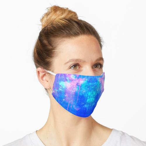 Rohrschach - pink, lila und blau Maske