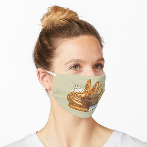 Brot und Knoblauch Maske