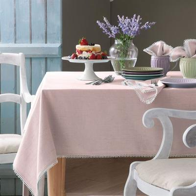 French Perle Solid Color Tablecloth, 60 x 102, Pale Green