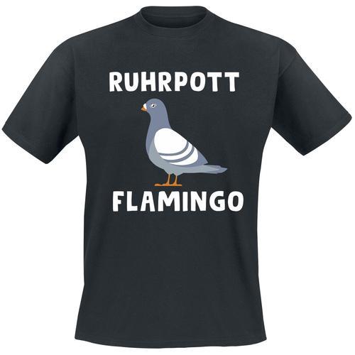 Ruhrpott Flamingo Herren-T-Shirt - schwarz