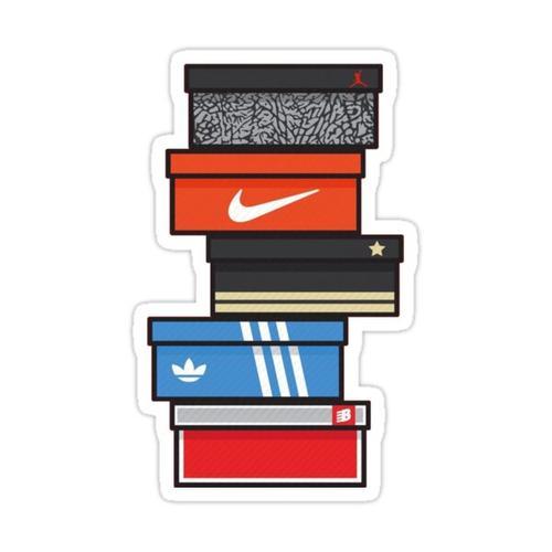 sneaker box Sticker