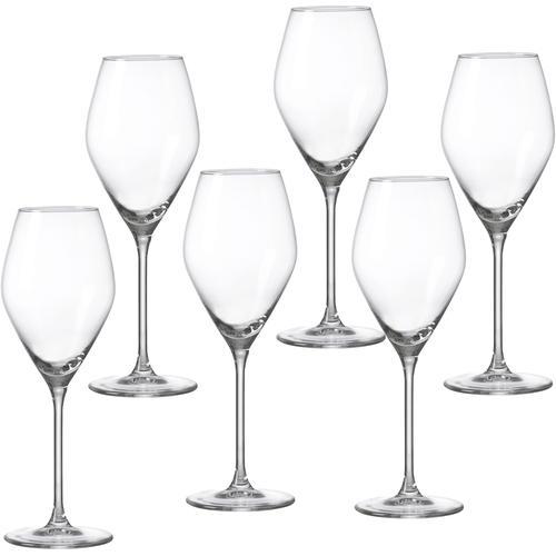 Ritzenhoff & Breker Weißweinglas Salsa, (Set, 6 tlg.), robust und kristallklar, 6-teilig farblos Weingläser Gläser Glaswaren Haushaltswaren