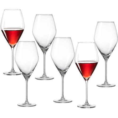 Ritzenhoff & Breker Rotweinglas Salsa, (Set, 6 tlg.), robust und kristallklar, 6-teilig farblos Weingläser Gläser Glaswaren Haushaltswaren