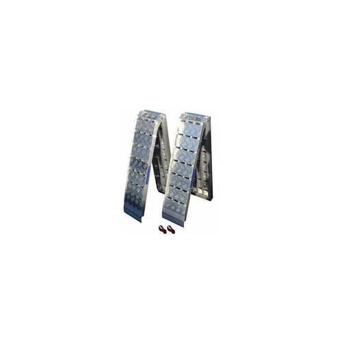 Baumarktplus - 2x TrutzHolm® Alu Auffahrrampe Heavy Duty 680 kg klappbar 225 cm Motorradrampe