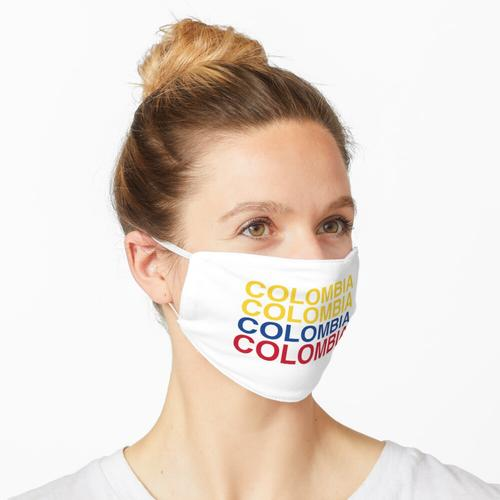 COLOMBIA Flag Maske