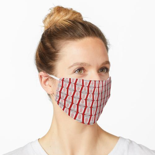 Flip Cup Plastikbecher Muster in Rot Maske