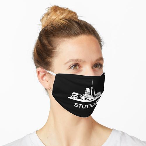 Stuttgarter Skyline, weiß Maske
