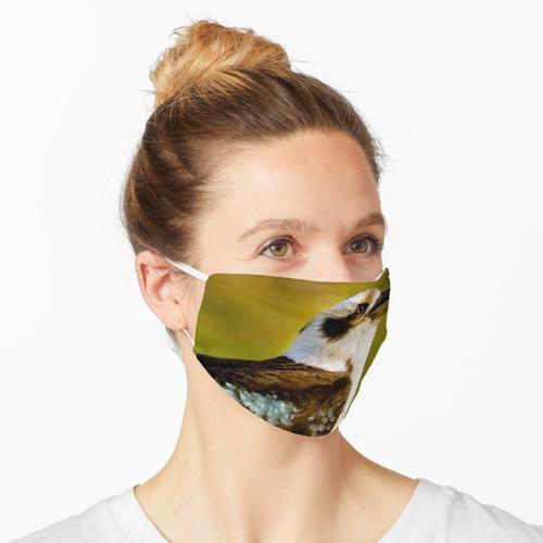 Kookaburra, Kookaburra auf grünem Gras Maske