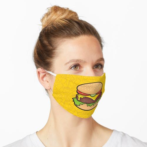 Cheeseburger Maske