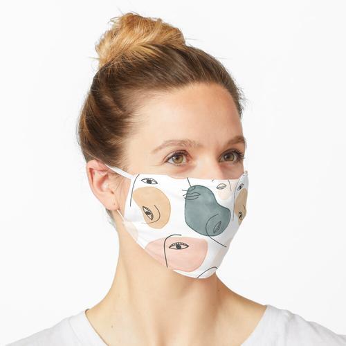Minimales figuratives Muster Maske