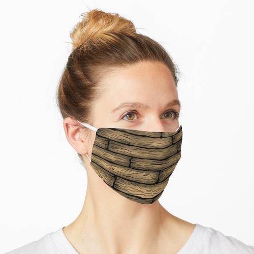 Holzbrett Muster Maske