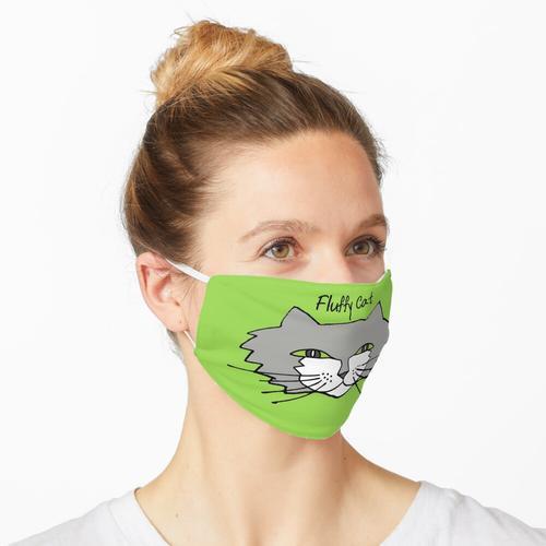Flauschige Katze! Maske