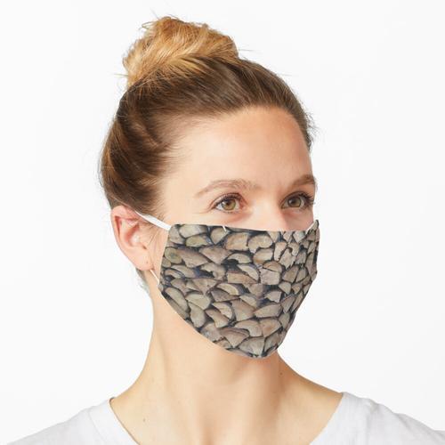 Brennholz Maske