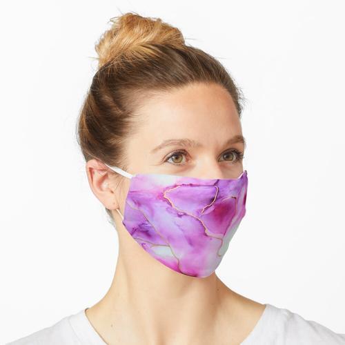 Durchsichtiges Lila Maske