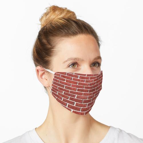Backsteinmauer Muster Roter Backstein Maske