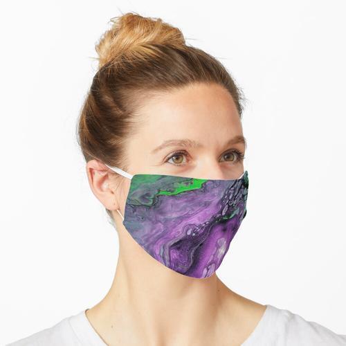 Lila und grüne Mischtechnik Maske
