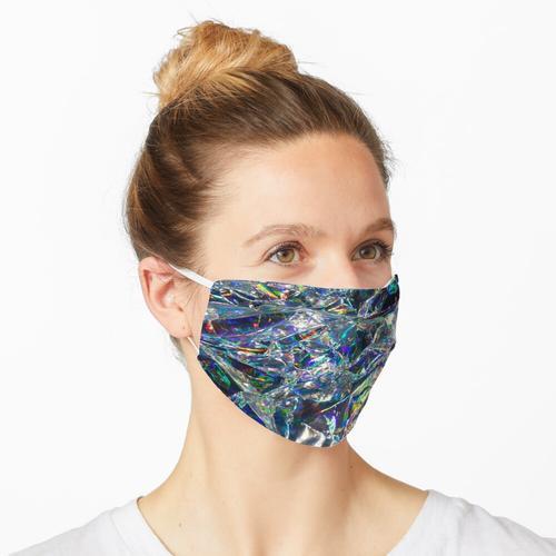 Mehrfarbige holographische Folie Maske