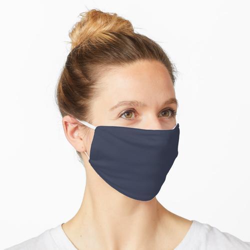 Dunkelblaues Blau Maske