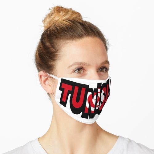Tunesien-Guss mit tunesischer Flagge Maske