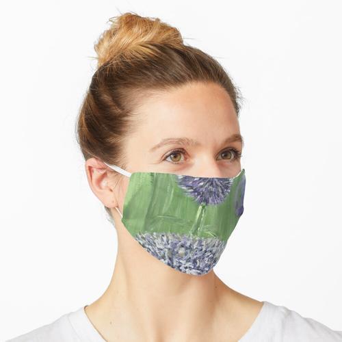 Lila Alliums Maske