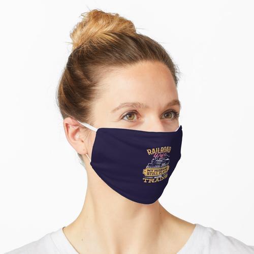 Eisenbahnfrau mein Ehemann spielt noch mit Zügen Maske