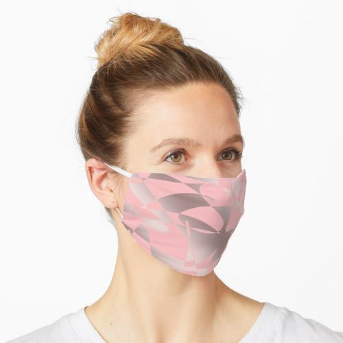 Nettes rosafarbenes Gold und rosafarbenes Muster Maske