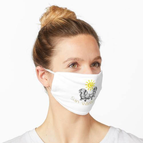 Dackel Sonnenanbeter Maske