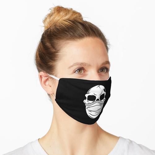 Totenkopf mit Mundschutz Maske