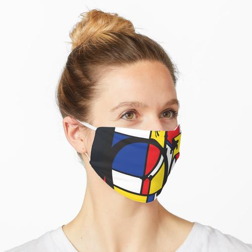 Mondrian Fahrradkunst Maske