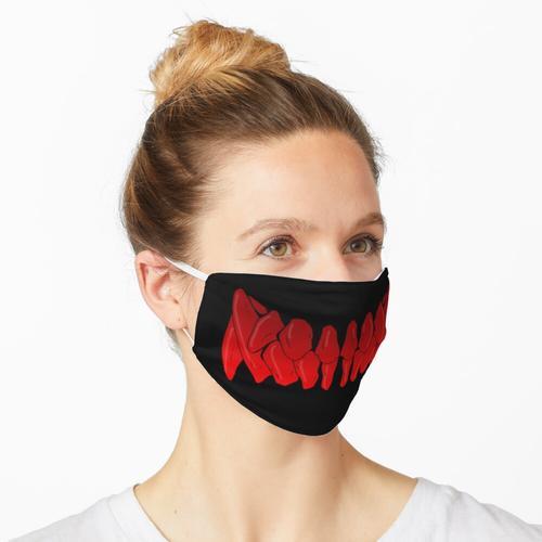 Wolfszähne (rot) Maske