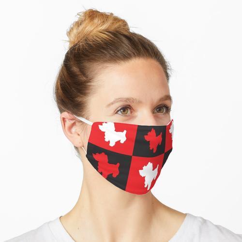 Shortbread (rot & schwarz) Maske