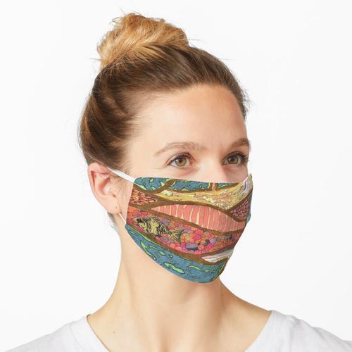 Earth Moves (Mischtechnik auf Papier) Maske