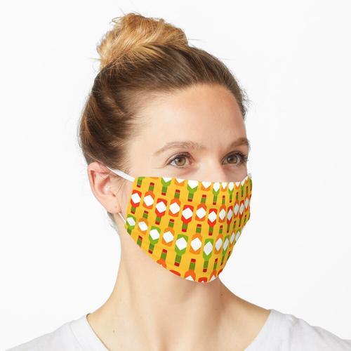 Scharfer Hot Sauce Print in Gelb Maske