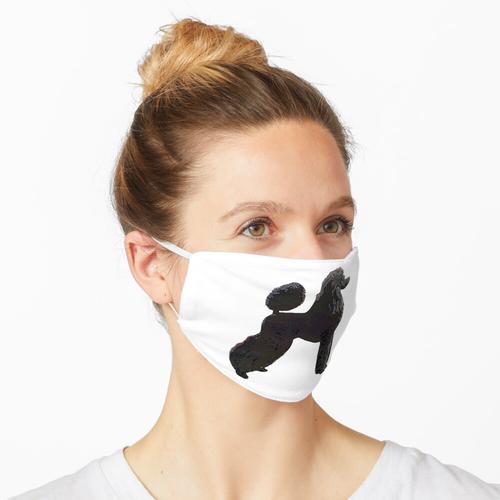 Pudelkunst - Schwarzer Ausstellungsstand Maske