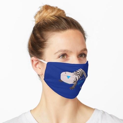 Warum so blau? | Blauzungenskink Maske